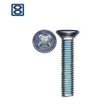 Flat cross head DIN 965 machine screw bolt making machine price countersunk head screw