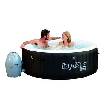 "Bestway 54123 71"" x 26""/1.80m x 66cm Lay-Z-Spa Miami AirJet SaluSpa Inflatable round Hot Tub"
