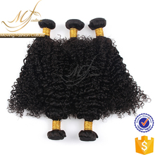 Machine double sewn weft peruvian curly hair extension human hair