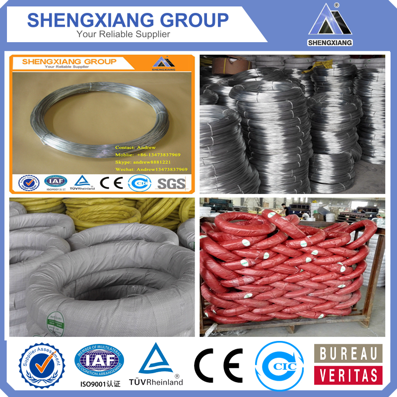 Galvanized Iron Wire Shining Colour with ISO9001;(Factory Price)