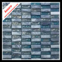 Mosaic tile for wall and floor, glass and stone mosaic ,aqua glass tile mix stone mosaic(KY-ZR2013175)