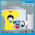 China a4 cast coated sublimation waterproof T-shirt transfer paper wholesale rolls inkjet printing pvc heat transfer paper