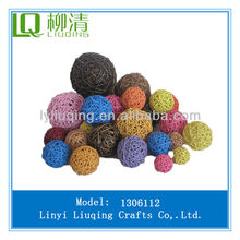 colorful wicker balls for christmas decoration