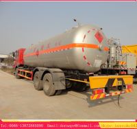 Dongfeng 10 wheeler 25000L lpg cylinder transport truck for sale