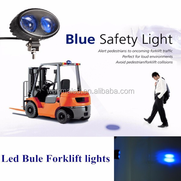 Safety blue point led work light 10w 10-100v led forklift warning lights, bule light forklift