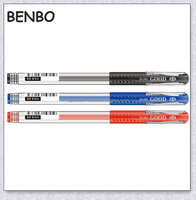Ordinary three-colored Gel Pens, Plastic gel ink pen for school and office
