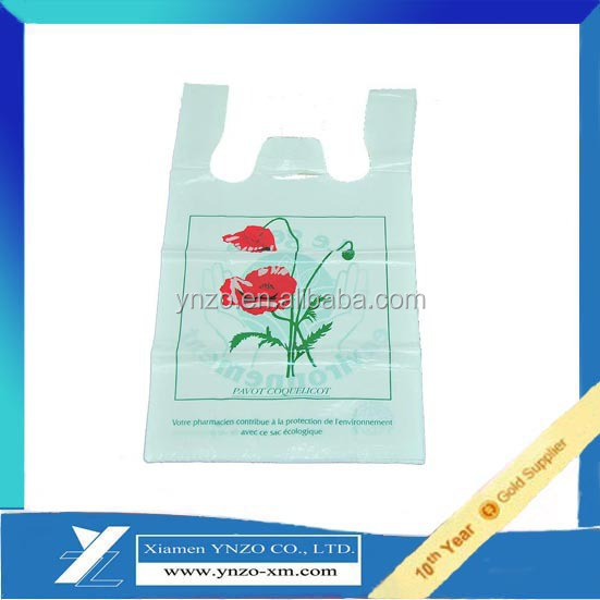 T shirt bag with custom printing for shopping