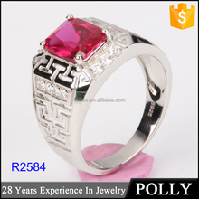 Wholesale 925 Sterling Silver Men's Ring with AAA zircon