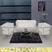 WorkWell hot sale pu leather stainless sofa set steel sofa steel frame sofa Kw-T11