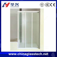 interior commercial tempered glass bifold bathroom door