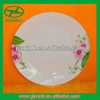 25cm Melamine Dinner Plate With Wave