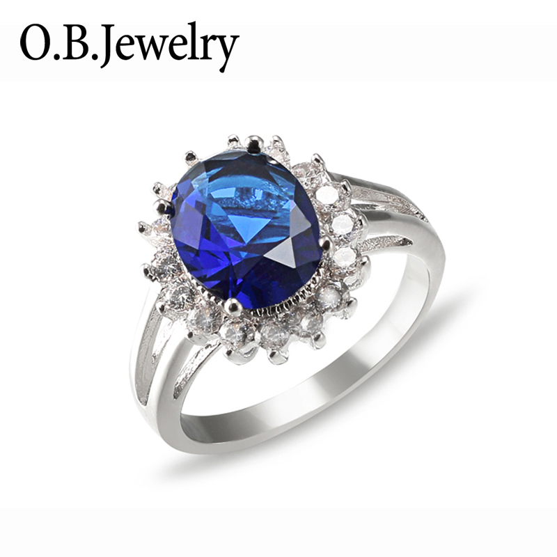 OB Jewelry-925 Sterling Silver Gemstone Jewelry Natural Rose Quartz Ring For Ladies