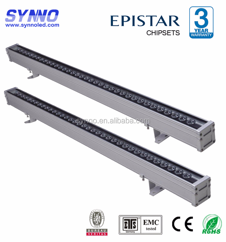 0.3m/0.9m/1m/0.5m 24V 24W RGB rotating Color LED Wall Washer Light/ Linear Bar Light Outdoor with DMX Driver