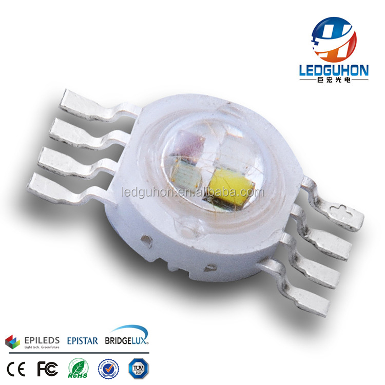 High Power Colourful Light 4W RGBW 45mil Chip LED
