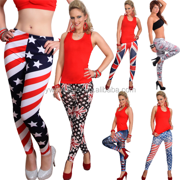 Leggins Hose USA Amerikanische Englische Flag UK Union Leggings