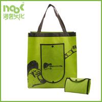 Travel using non woven folding tote bag with side pocket