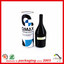 China paper wine packaging provider professional wine packaging tube whisky tube packaging for custom making