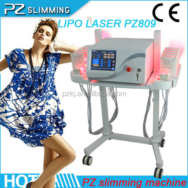 newest 12 paddles 164 diodes portable fda approved lipo laser equipment (PZ809/CE)