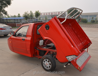 Cargo use for and EEC certification cargo tricycle with cabin/CE approved three wheel pickup trucks