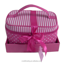 High Quality Brand Zipper Patent Leather Cosmetic Bag
