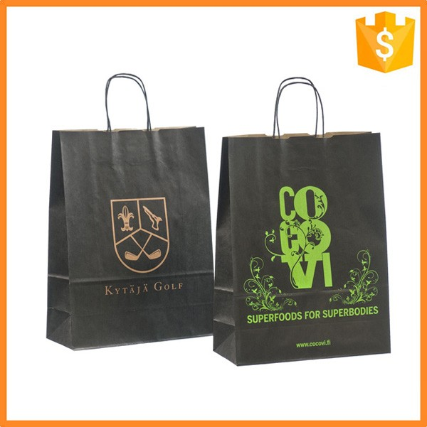 Low price custom machine made kraft paper bag with flexo printing
