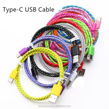 Super Quality OEM USB 3.1 Type-C Nylon Braided Wire USB Data Charger Cable for LG G5