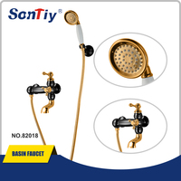 New design bathtubs and shower /Gold and black plated bath shower mixer