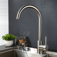 Oem Nickel Brushed Brass Body High End Kitchen Faucets