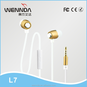 2015 Hot sale mental earphone,earphone with mic Wennda L7