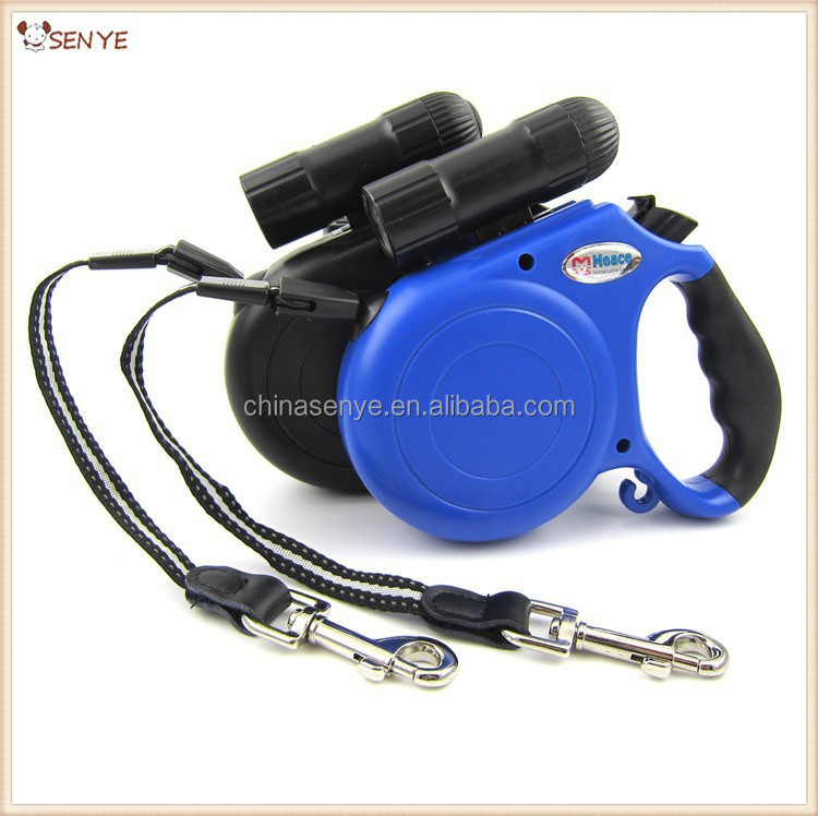 Top Grade Brand 5M Automatic Dog Leash With LED Light Retractable Dog Leashe/Lead