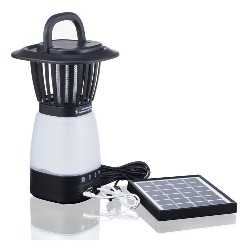 Solar Powered Mosquito Zappper Led Light Indoors Or Outdoors