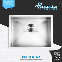 Housestar Kitchen Sink Factory Design Specialized In Handmade Stainless Steel Single Bowl Kitchen Sink Guangzhou For USA 2318