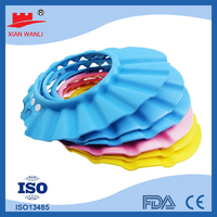 colorful Hotel PE disposable nonwoven shower capclear children hair washing cap