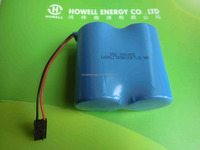 700mah 1200mah 2400mah ER34615 14000mah 3.6V Li-SOCI2 Primary Lithium Battery widely used in electricity gas 2S1P