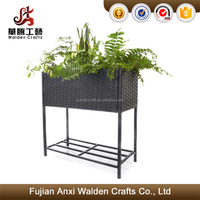 Wicker raised garden bed outdoor planter vegetable planter bed box
