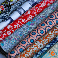 100% cotton poplin printed fabric