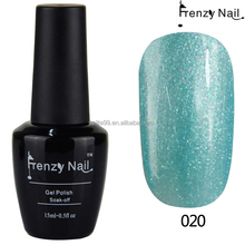 Nail art decoration cheap blue color soak off uv gel polish