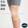 Compression spandex knitting gel Elastic knee support/knee sleeve with spring stay