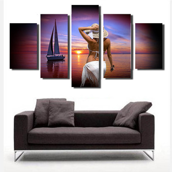 Print Abstract Portrait Modern Nude Woman Oil Painting on Canvas Art Sexy Female Lady Body Wall Picture for Living Room