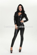 fantasia sey walson Women Jumpsuit Spande Sey wetlook Black Cat Late Catsuit Costumes bodysuit
