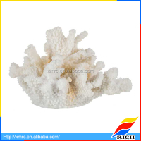 New Design White Resin Ceramic Coral Figurine For Home Decoration