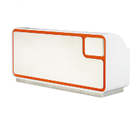 Acrylic Surface I Shaped Office Front Desk Counter