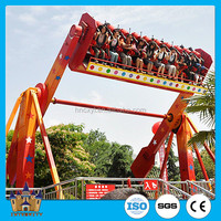 Modern Amusement Park Rides Top Spin Outdoor Space Travel Thrilling Hurricane Ride
