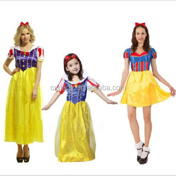 nias disfraz de princesa amarillo