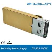 DC 5V 80A 400W ultra thin slim Switching power supply for led strips AC 170-250V