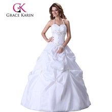 Grace Karin Fashion Elegant White Bridal Wedding Dresses CL3109