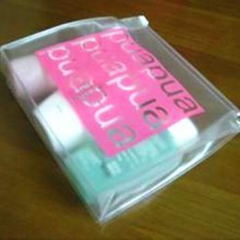supermarket cosmetic packing clear pvc your logo bag with zipper(SD-CB-059)