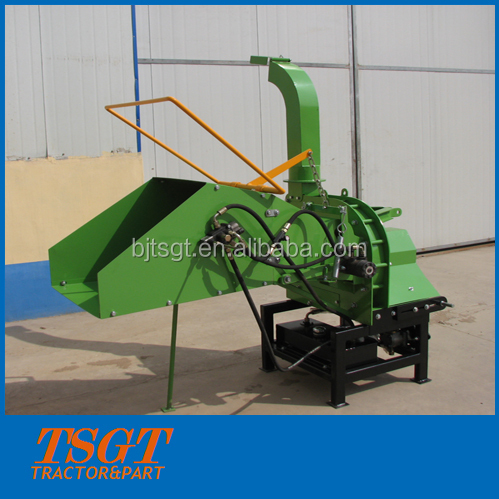 30hp tractor linked wood chipper with hydraulic system