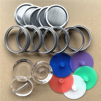 Stainless Steel Wide Mouth Mason Jar Replacement Rings / Bands / Tops for Pickling, Canning, Fermenting