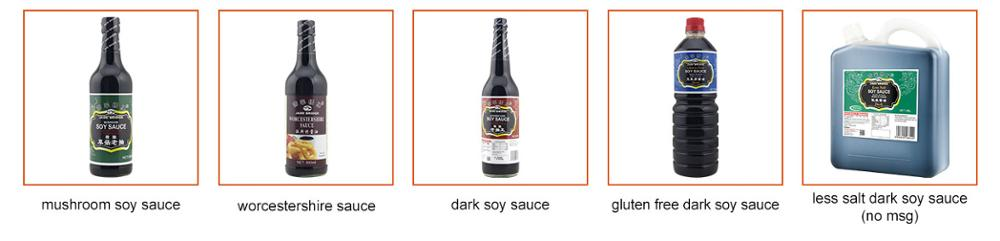Halal Chinese Dark Soy Sauce Brands Glass bottle 150ml